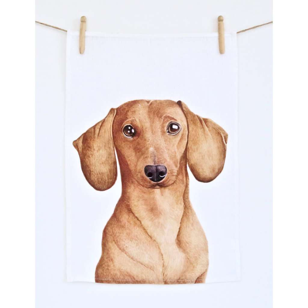 Tea Towel - Duke the Dachshund