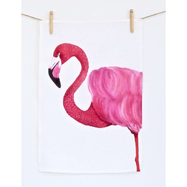 Tea Towel - Florence the Flamingo
