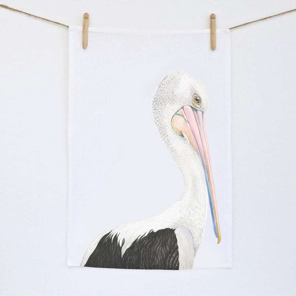 Tea Towel - Pippa the Pelican