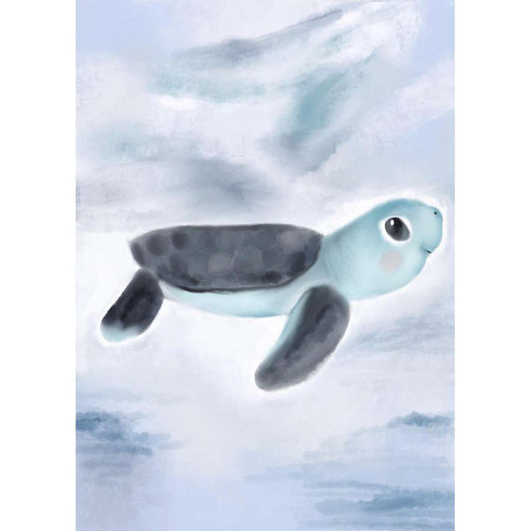 Under The Sea Collection - Tommy the Turtle | Green Door Decor | Art Prints | greendoordecor.com.au