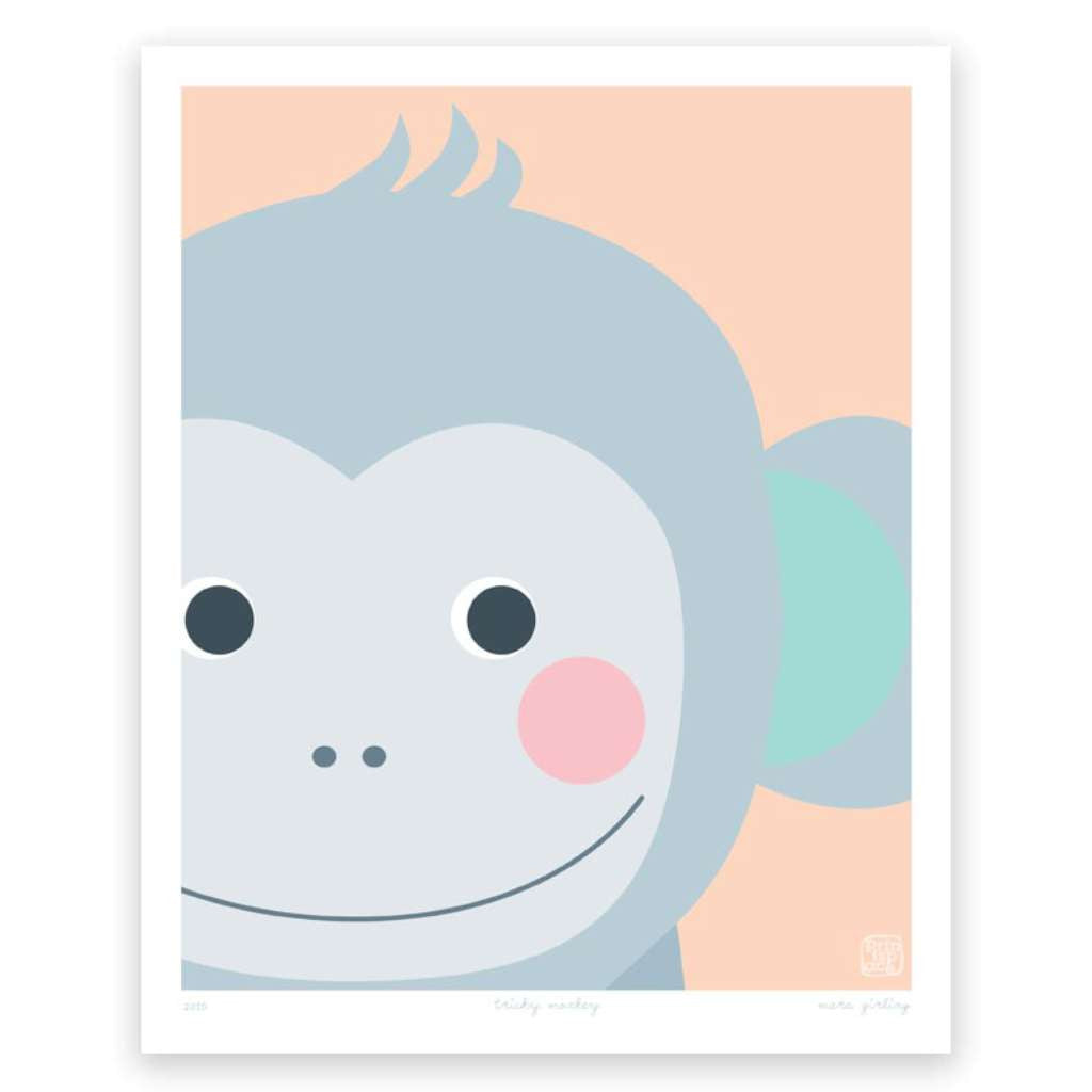 Tricky Monkey, by Printspace. Australian Art Prints. Green Door Decor.  www.greendoordecor.com.au