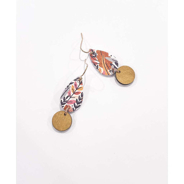 Tropical Forest Mini Teardrop Earrings