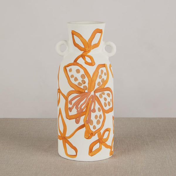 Spotted Begonia Tiger Lily Golden Tall Vase by Bonnie and Neil. Australian Art Prints and Homewares. Green Door Decor. www.greendoordecor.com.au