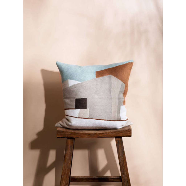 Villa Cushion. Australian Art Prints and Homewares. Green Door Decor. www.greendoordecor.com.au