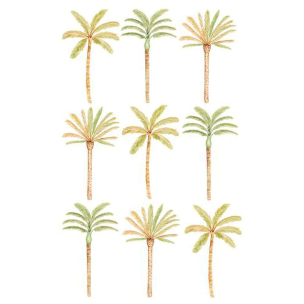 Wall Stickers - Happy Palms - Green Mixed, by Sailah Lane. Australian Art Prints. Green Door Decor. www.greendoordecor.com.au