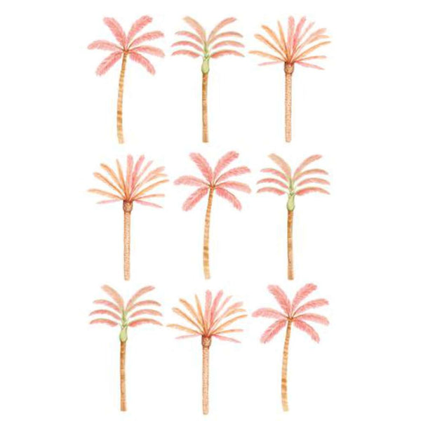 Wall Stickers - Happy Palms - Pink Mixed, by Sailah Lane close up. Australian Art Prints. Green Door Decor. www.greendoordecor.com.au
