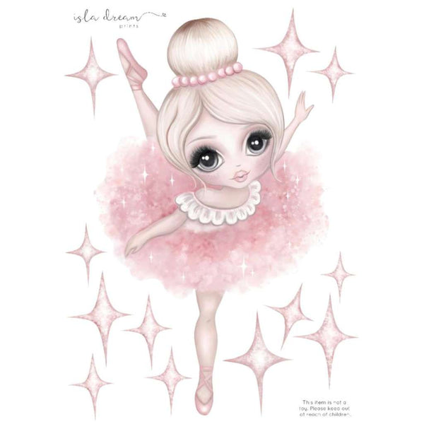 IDP FABRIC Wall Decals - Bella the Ballerina