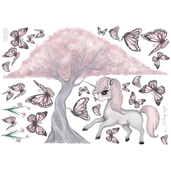 IDP Wall Decals - Rose & Cherry Blossom Tree