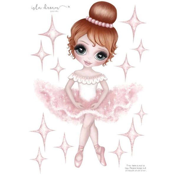 IDP FABRIC Wall Decals - Ruby the Ballerina