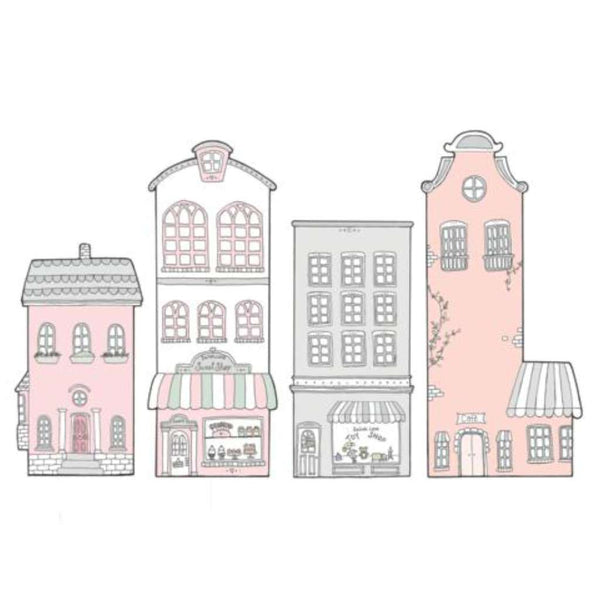 SL Fabric Wall Stickers - Little Sailah Lane (Pink)