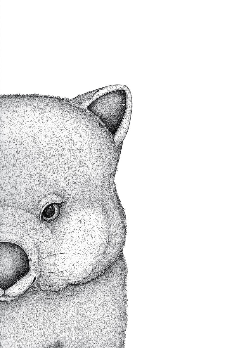 Walter the Wombat by Dots by Donna. Australian Art Prints. Green Door Decor. www.greendoordecor.com.au