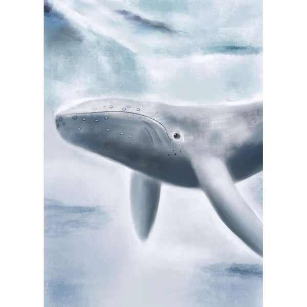 Under The Sea Collection - Wilber the Whale | Green Door Decor | Art Prints | greendoordecor.com.au