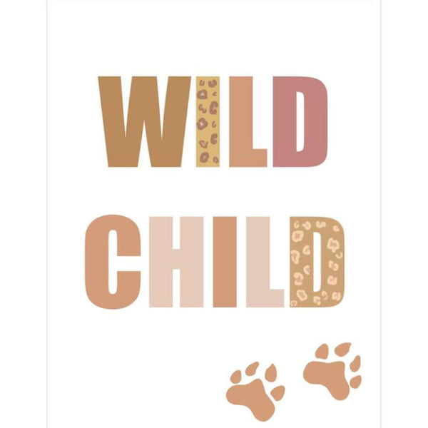 Wild Child print, by Sailah Lane. Australian Art Prints. Green Door Decor.  www.greendoordecor.com.au