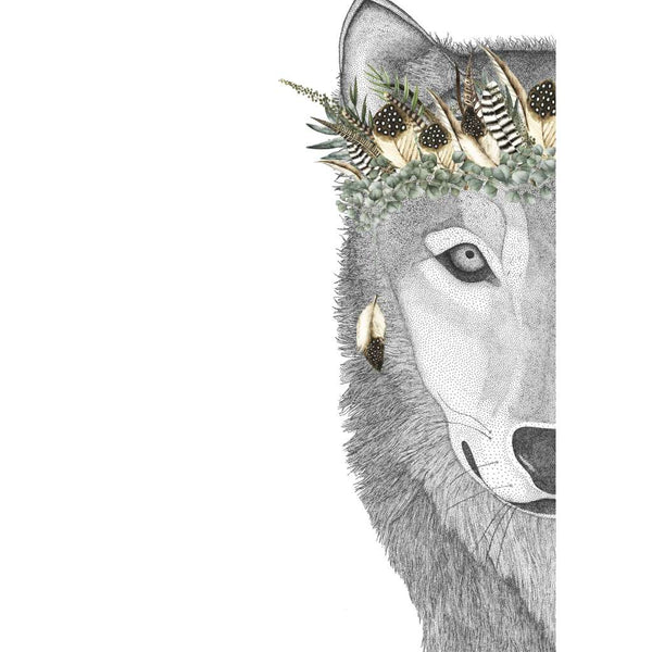 William the Wolf with Luxe Feather Crown (Limited Edition)