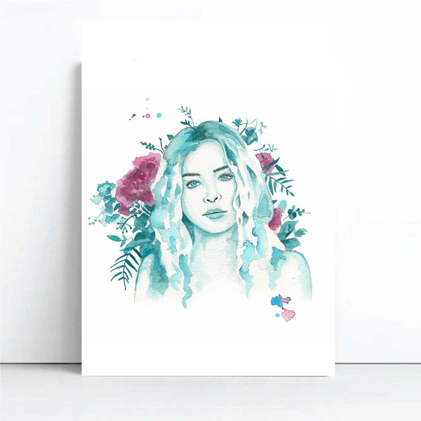 Willow - Watercolour Muse Collection, by Cassie Zaccardo. Australian Art Prints. Green Door Decor. www.greendoordecor.com.au