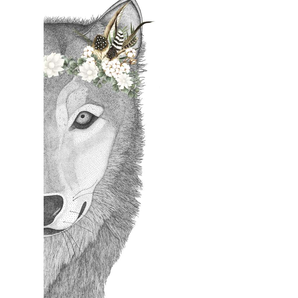 Willow the Wolf with Luxe Feather Crown (Limited Edition)
