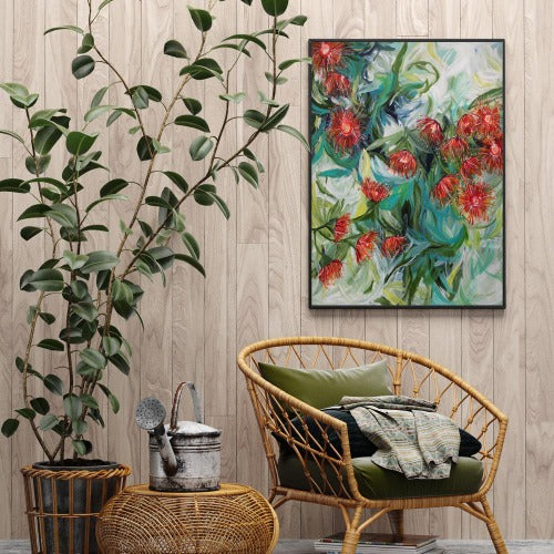 Winter Gum Nuts print, by Amber Gittins. Australian Art Prints. Green Door Decor. www.greendoordecor.com.au