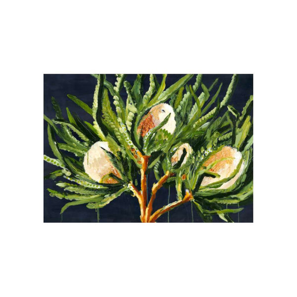 Winter Banksias by Grotti Lotti. Australian Art Prints. Green Door Decor.  www.greendoordecor.com.au