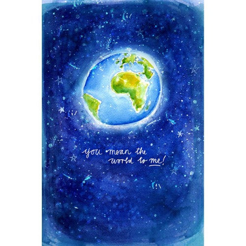 You Mean the World To Me Print - unframed - by Paula Mills Art. Australian Art Prints. Green Door Decor. www.greendoordecor.com.au