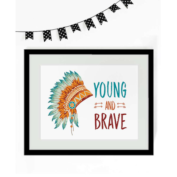 Young and Brave, by Black & Type. Australian Art Prints. Green Door Decor.  www.greendoordecor.com.au