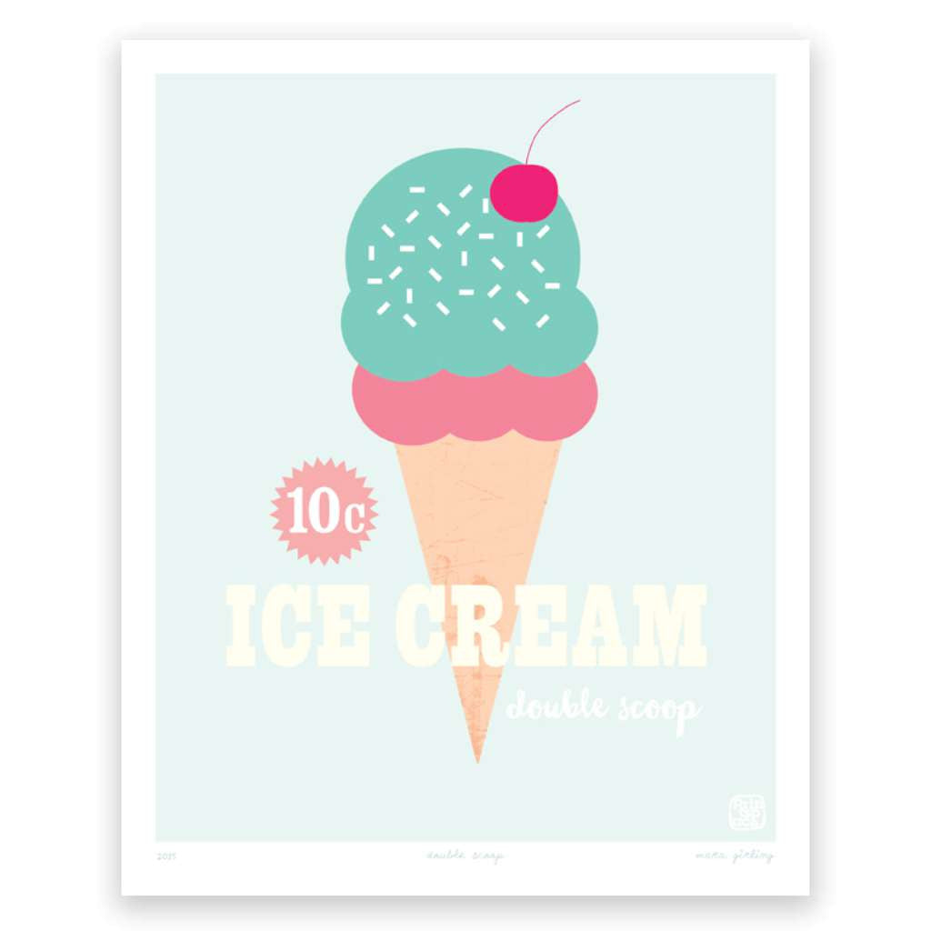 Double Scoop, by Printspace. Australian Art Prints. Green Door Decor.  www.greendoordecor.com.au