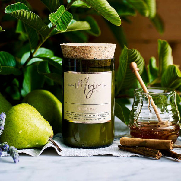 French Pear Candle by Mojo Candle Co. Australian Art Prints and Homewares. Green Door Decor. www.greendoordecor.com.au