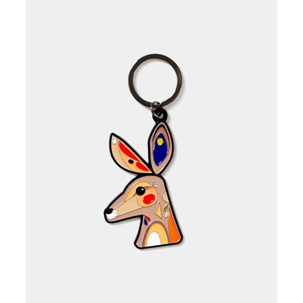 Kangaroo Keychain by Pete Cromer. Australian Art Prints and Homewares. Green Door Decor. www.greendoordecor.com.au
