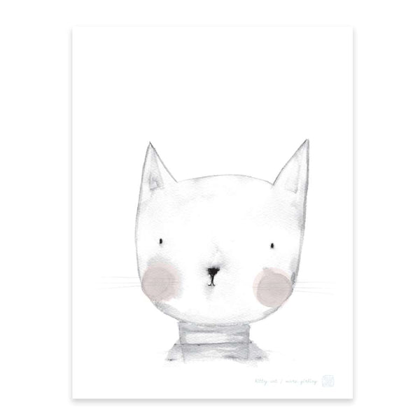 Kitty Cat, by Printspace. Australian Art Prints. Green Door Decor.  www.greendoordecor.com.au