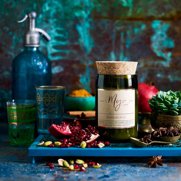 Moroccan Spice Candle by Mojo Candle Co. Australian Art Prints and Homewares. Green Door Decor. www.greendoordecor.com.au