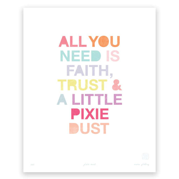 Pixie Dust, by Printspace. Australian Art Prints. Green Door Decor.  www.greendoordecor.com.au