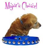 "Major's BIG STUDS 1"" Leather Buckle Collar 16"" - 26"""