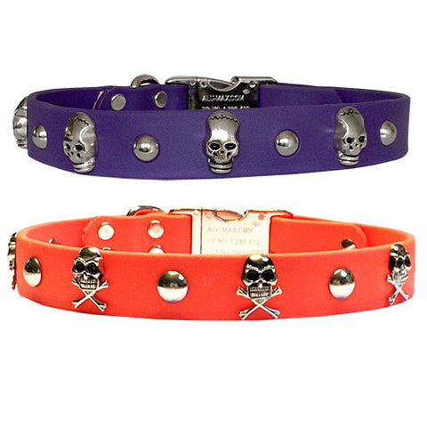 "SKULLS & STUDS SPORTs Poly Clip Collar 18"" - 26"""