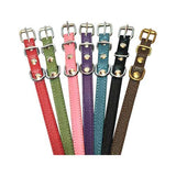 NO BLING Pocket Pup Leather Buckle Collars, by Angel