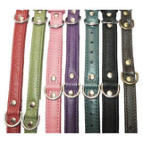 NO BLING Padded Leather Center D Ring Collars, by Angel