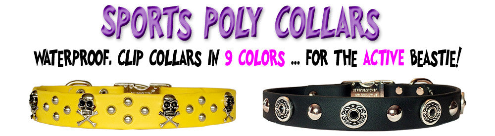 SPORTs Poly Clip Collars in 9 colors!