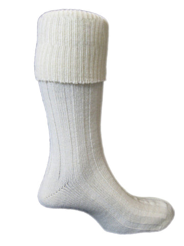 TREK. White Hiking Socks -