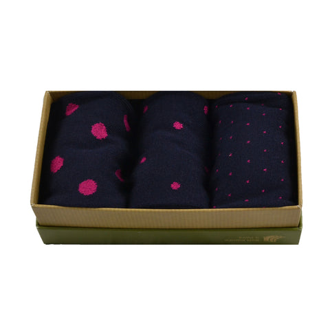 MEN'S 100% BAMBOO GIFT BOX Spotty Pink Socks