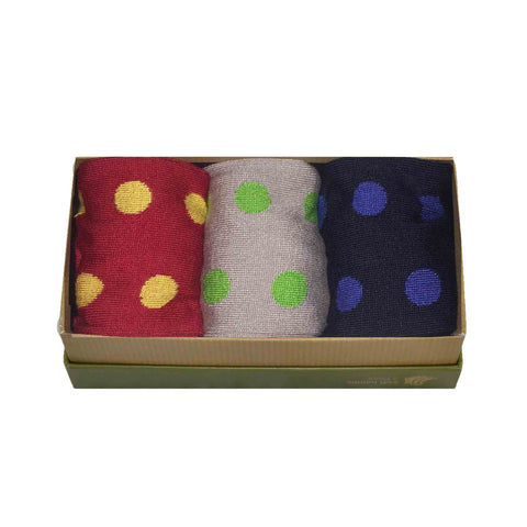 Men's Bamboo Sock Gift Box - Multi Spot