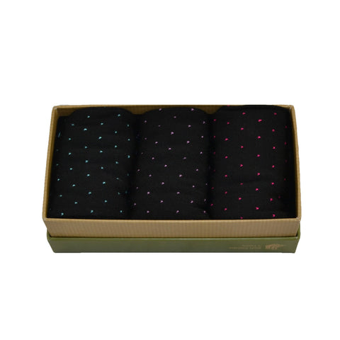 Men's 100% Bamboo Gift Box Pin Dot Socks