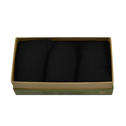 MEN'S 100% BAMBOO GIFT BOX Plain Black Socks