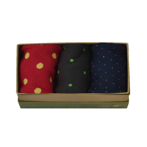 Men's Bamboo Sock Gift Box - Scale Dot