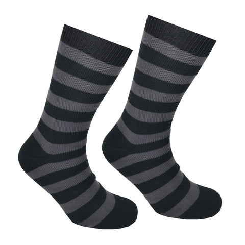 Cotton Striped Socks Black and Grey