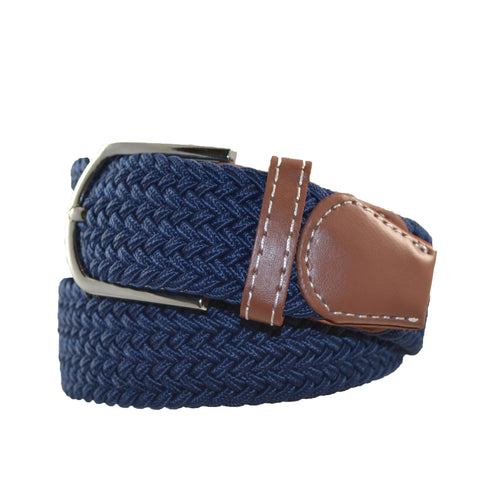 Elasticated Uni-Sex Belt Dark Blue