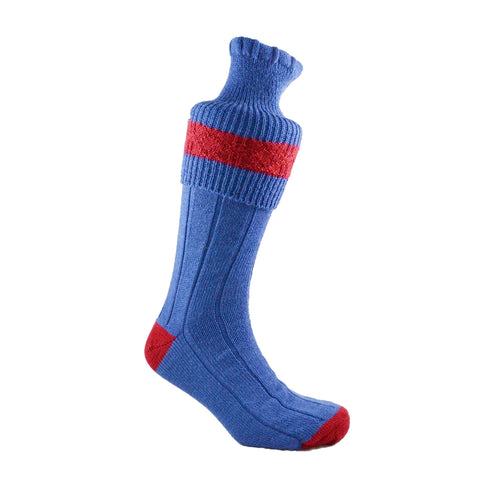 Shooting Walking Socks Blue and Red