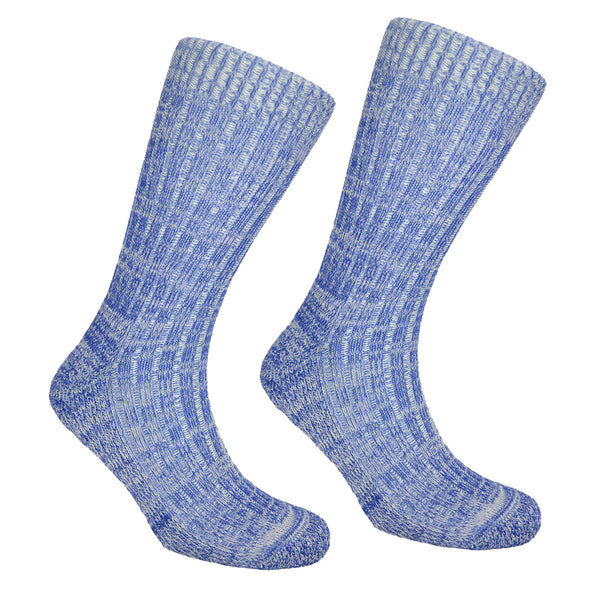 Men's Cotton Walking Socks Blue
