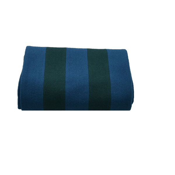 100% Wool Scarf Uni-Sex Green and Blue