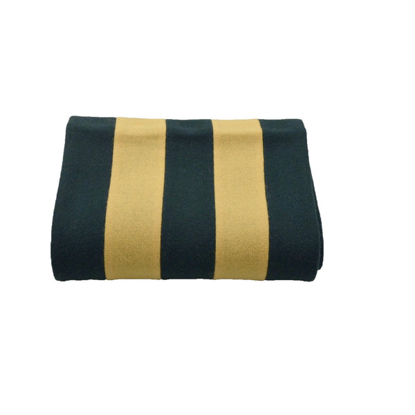 100% Wool Scarf Uni-Sex Green and Yellow