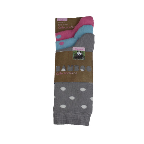 Bamboo Spotty Sock Three Pairs