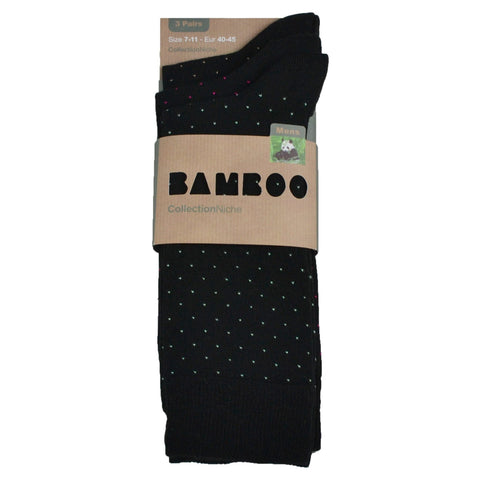 Men's 100% Bamboo Socks Pin Dots