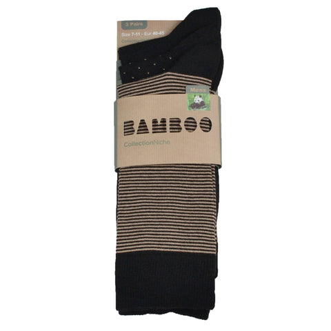 Men's 100% Bamboo Socks Brown and Black